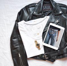 Leather jacket spread by @maral_asmani