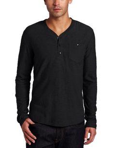 Kenneth Cole Men's Slub Henley Shirt With Woven « Clothing Impulse