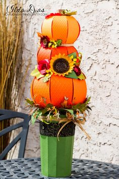 (I) (L)ove (D)oing (A)ll Things Crafty! Fallin' Pumpkins Centerpiece - SVG Cuts DT Project