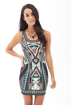 Geo Print Bodycon Dress | FOREVER 21 - 2000122607