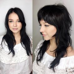 Shag With Bangs And Shorter Layers pony langes 60 Lovely Long Shag Haircuts for Effortless Stylish Looks Long Shag Haircut, Long Bob Haircuts, Layered Haircuts, Modern Haircuts, Pixie Haircuts, Hairstyles With Bangs, Straight Hairstyles, Braided Hairstyles, Long Shag Hairstyles