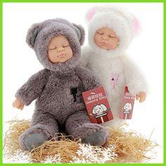 Kawaii baby dolls & stuffed pvc kids plush toys for girls Christmas gift high quality Bjd bebe doll reborn baby born toys