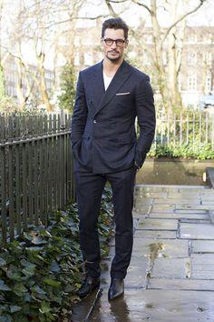 David Gandy - London Collections: Men Street Style (via British GQ