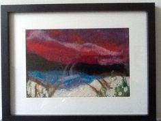 Wet felted and then machine stitched art work by Amanda Briggs see Threadfold art studio on facebook.