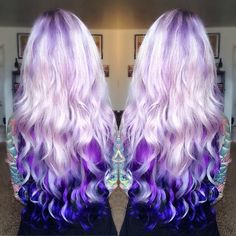 LOVE the lilac to purple ombré