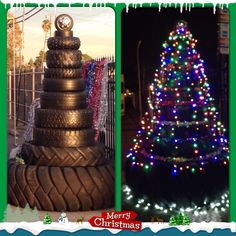 Our tire shop's Christmas tree