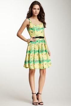 Betty Belted Print Dress by Eva Franco on @HauteLook
