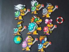 Perler Bead Pattern Disney Characters | Perler Bead Koopa Family by ~EP-380 on deviantART