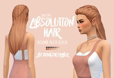 "doingthesimblr: "" @missparaply's retexture of @kiarazurk's absolution hair recolored • 16 swatches from @pastry-box's saccharine palette • mesh not included, download HERE • please do not claim as your own ♡ download here ♡ """