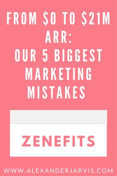 Zenefits went from $0 to $21M ARR. But that kind of growth doesn't happen without a cost. Matt Epstein, VP of Marketing at Zenefits, goes over the company's biggest f***ups, and how you can avoid the same mistakes. Read at WWW.ALEXANDERJARVIS.COM #marketing #marketingtips #startup #startuplife Mistakes, Scale, Marketing, Shit Happens, Reading, Big, Weighing Scale, Reading Books, Libra