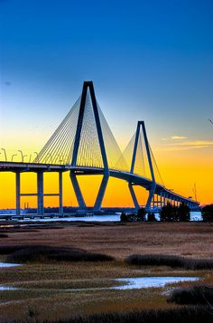 Cooper River Bridge Charleston, South Carolina    (aka Arthur Ravenel, Jr. Bridge)  Architects: Donald MacDonald
