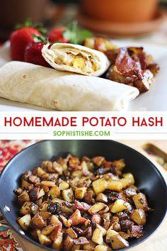 Homemade Potato Hash via @sheenatatum