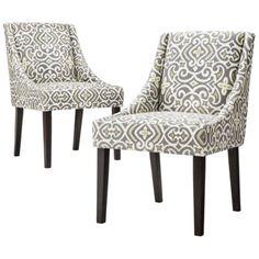 $260 for 2 ECOM Cutback Dining Chair - Grey/Citron 2pk