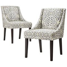 Griffin Cutback Dining Chair - Grey/Citron (Set of 2)