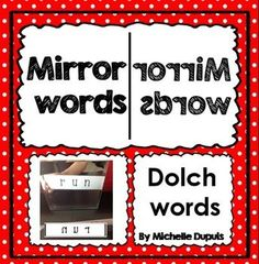 FREEBIE! The words in this product come from the Dolch word list. They can be placed in a center or a station with a small mirror for fun word learning or revision.