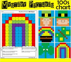 Hundreds Chart Math Mystery Picture - March... by ABC Helping Hands | Teachers Pay Teachers