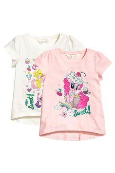 Set van 2 tricot tops - Lichtroze/My Little Pony - KINDEREN   H&M NL