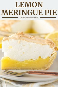 With a homemade pie crust, tart lemon filling and light and fluffy toasted meringue, this lemon meringue pie recipe is a family favorite. Lemon Desserts, Great Desserts, Dessert Recipes, Homemade Pie Crusts, Lemon Filling, Lemon Meringue Pie, Tart Recipes, Pie Dish, Food Processor Recipes