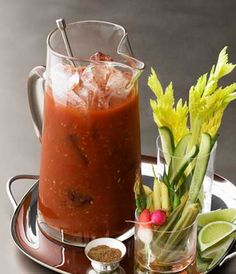 GREY GOOSE® Vodka | Bloody Mary Pitcher: Make your next brunch gathering a breeze with a self-serve pitcher and our precisely honed combination of rich tomato juice and savory spices.