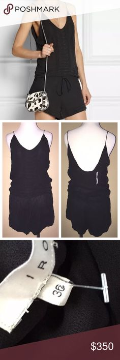 IRO PARIS Romper Embroidered Spring Boho Jumpsuit Size EUR 36, US Small. New With Tags. $298.00 MSRP + Tax.  • Beautiful black gauze romper featuring light raw tonal embroidery throughout. • Drawstring waist allows for comfort. • Lightweight crepe shell.  • Self-lined. • 100% Viscose. • Imported, India.     {Southern Girl Fashion - Closet Policy}   ✔️ Same-Business-Day Shipping (10am CT). ✔️ Price shown is firm unless bundled. ❌ No trades, thank you! IRO Pants Jumpsuits & Rompers