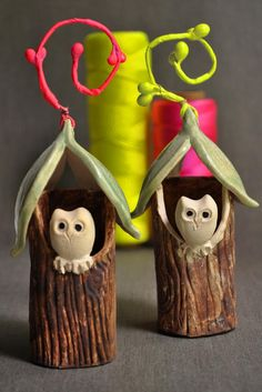 Owl House Christmas ornament  from Lee Wolfe Pottery