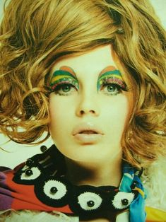 1960s colorful mod makeup