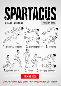 Spartacus Workout (screw that)