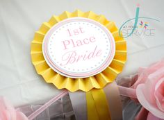 kentucky derby bridal shower theme | Made this ribbon for the 1st place bride :)
