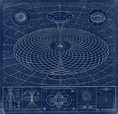 danielmartindiaz:  Cosmological Mysteries, Blue Print by DMD