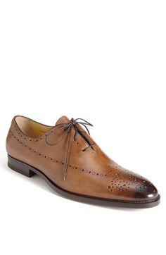 "When you see me out wearing these, please refer to me as ""Mutherfucka Jones""...Santoni 'Rayburn' Lace-Up Oxford $745."