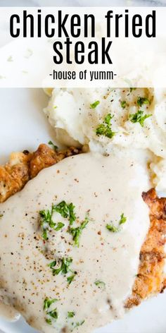 My husband LOVES this! Southern comfort food at it's finest. This chicken fried steak is better than ANY restaurant. And I have all the tips and tricks that you need to be able to make this at home! Chicken Fried Steak, Fried Chicken Recipes, Steak Recipes, Cooking Recipes, Healthy Recipes, Thai Chicken, Healthy Breakfasts, Healthy Snacks, Easy Recipes