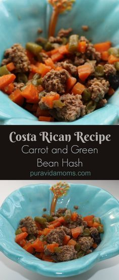 Traditional Costa Rican green bean and carrot recipe
