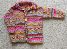 Ravelry: reahjanise's Coat of Many Colors Baby Sweater