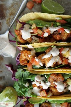 Chipotle Shrimp Tacos // Heather Christo