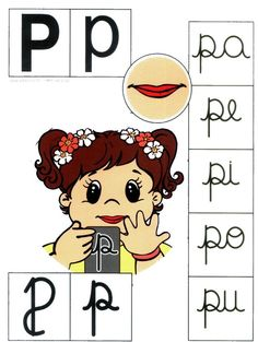 Letra P mayúscula, p minúscula. Apraxia, Alphabet Games, Phonological Awareness, Math For Kids, Teaching Spanish, Speech Therapy, School Days, Special Education, Literacy