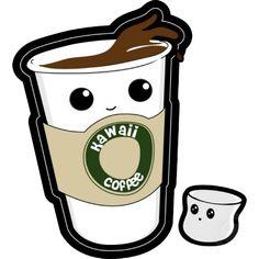 Kawaii coffee Scrapbooking clipart