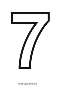 Number - seven printable template