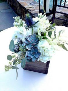 These #unique #flower #arrangements put the finishing touches on the #outdoor cocktail tables. Designed by @xquisiteflowers. http://xquisitevents.com/