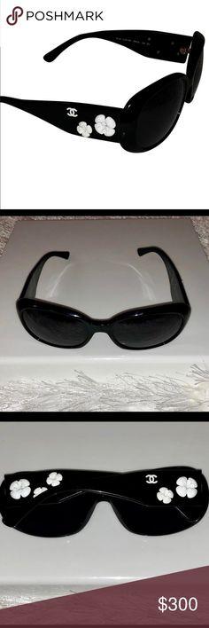 eb3eca3fd830 I just added this listing on Poshmark  Chanel Camillia Black Sunglasses.
