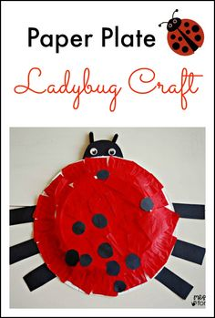 Paper Plate Ladybug Craft - This is fun to make and even more fun for kids to play with. We have been using it for pretend play and puppet s...