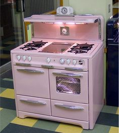 1950 Pink Wedgewood Stove