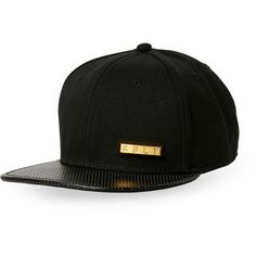 Cult Of Individuality Gold Bar Cap (73 AED) ❤ liked on Polyvore featuring men's fashion, men's accessories, men's hats, black, mens caps and hats, mens caps, mens snapback hats and mens flat caps