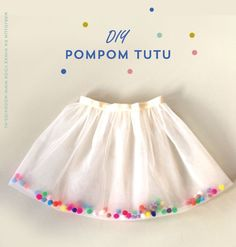 Eenvoudig zelf een feestelijke pompom tutu (tule rok) maken | Moodkids