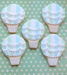 hot air balloon cookies by Miss Biscuit by Miss Biscuit, via Flickr