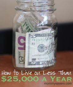 Living on less than $25,000 year - yes, it can be done! #frugal