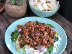 kip in zwarte pepersaus: zonder pakjes en zakjes - Familie over de kook