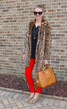 Sweets and Style Just Right: Red & Leopard