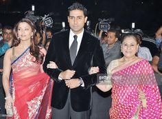 Actors Aishwarya, Abhishek and Jaya Bachchan at the Star Screen Awards in Mumbai on Saturday, January 9, 2010.