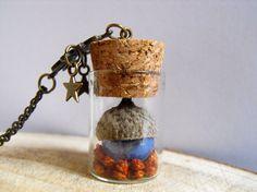 Romantic terrarium vial necklace vial jewelry nature inspired terrarium jewelry glass bottle necklace terrarium pendant terrarium bridesmaid de FamDdaear en Etsy