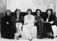 MARKED WOMAN CAST: Isabel Jewell, Mayo Methot, Bette Davis, Rosalind Marquis and Lola Lane